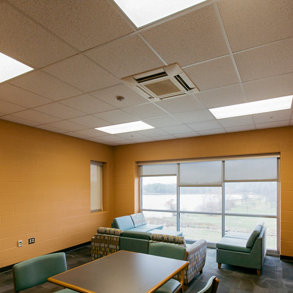 This study room offers a view over Taylor Lake.