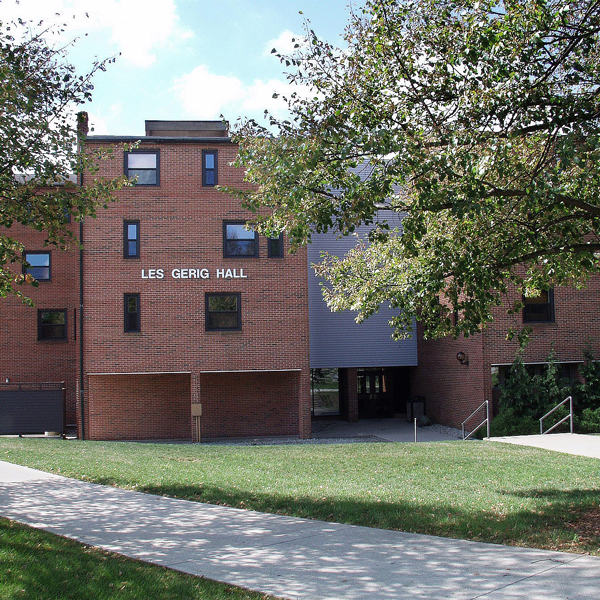 Gerig Hall is one of the smallest residence halls on campus.