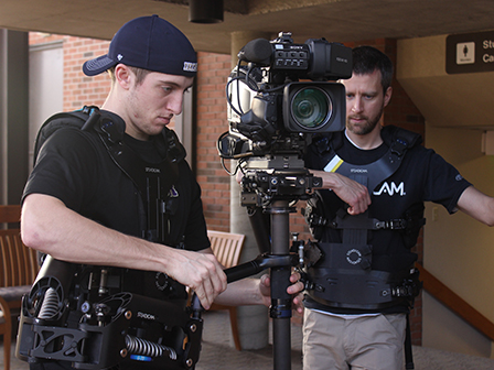 A unique January class takes advantage of Taylor's Steadicam® Shadow, giving students professional experience.